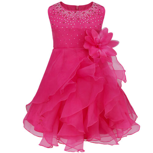 Toddler Baby Flower Girl Princess Dress Party Wedding Bridesmaid Birthday Gown
