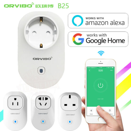 Orvibo Home Automation B25 EUUUKAU Standard Smart Power Socket Alexa Google