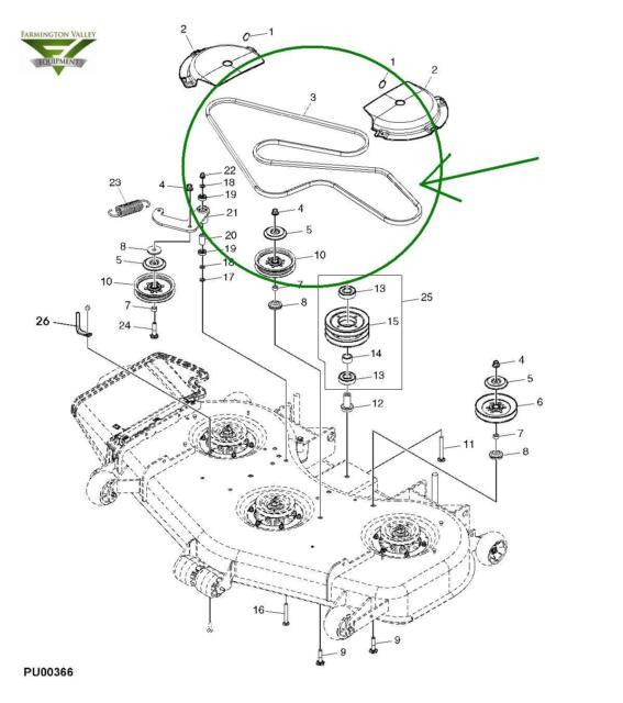 john deere 737 757 777 797 ztrack 60 inch mower deck belt tcu13198 rh ebay com