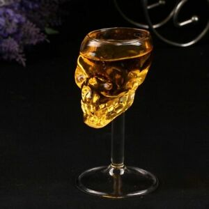 Skull-Bar-Shot-Glass-Head-Vodka-Whiskey-Cup-Skeleton-Drinking-Crystal-Ware-Clear