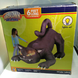 HALLOWEEN-6-FT-BLACK-CAT-GEMMY-INFLATABLE-AIRBLOWN