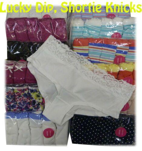 Ex M/&S 5Pk Cotton Rich Shortie Briefs Multiple Colour