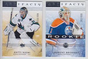 2014-15-UD-ARTIFACTS-ANTTI-NEIMI-999-Goalie-103-Upper-Deck-Sharks-Stars