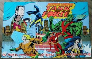 Justice-League-Task-Force-1993-Flash-Nightwing-Wonder-Woman-Aquaman-DC-Poster-FN