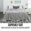 thumbnail 4 - Trafalgar 100% Australian Wool Blanket Single/Double Warm Soft Breathable Grey
