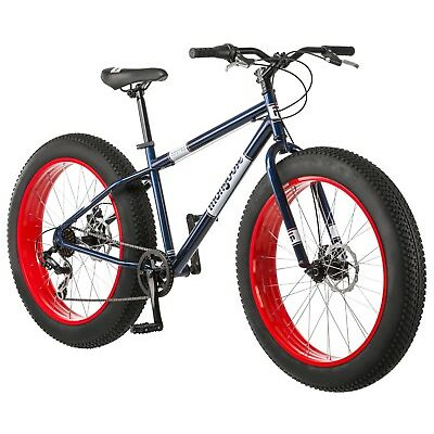 "26"" Mongoose Men's Dolomite Fat Tire Bike-Blue/Red R4144"