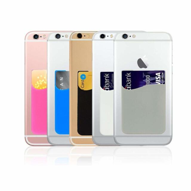 check out 63e87 1a664 Phone Card Holder 3M Adhesive Card Sleeve Silicone Card Pouch iPhone Card  Pocket