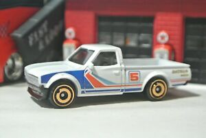 Hot-Wheels-Loose-Datsun-620-Pickup-Truck-White-1-64-Hot-Trucks