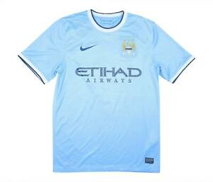 Manchester City 2013-14 Authentic Home Shirt (OTTIMO) S Soccer Jersey