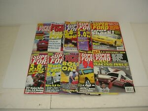 Lot of 10 Super Ford Year Magazines