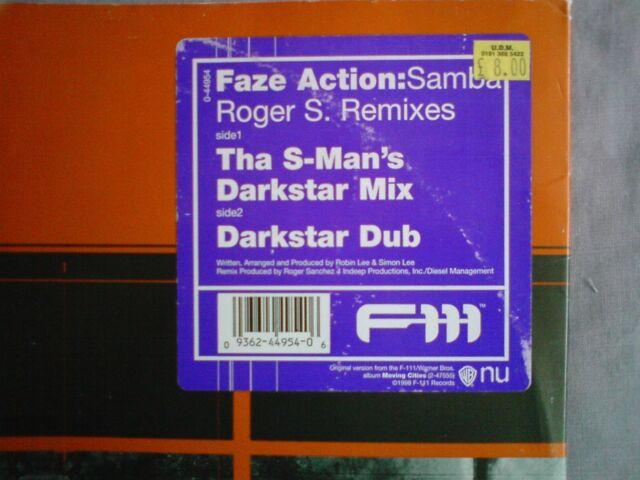 Faze Action ~ Samba ROGER Sanchez REMIXES ROGER S DARKSTAR [F111] House 12