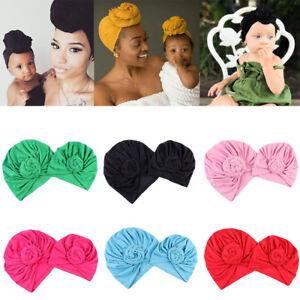 8d4e0bf34c2 Mother and Baby Head Turban Bun Hat Twist Knot Arab Islamic Headwear ...