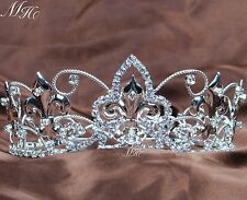 Imperial Medieval Crowns Rhinestone Queen Tiaras Pageant Party For Kids Children