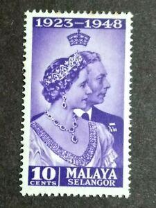 Malaya-1948-Selangor-Silver-Wedding-10c-1v-MH
