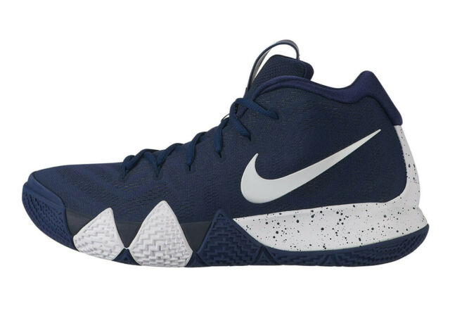 wholesale dealer 037e0 34f67 Nike Kyrie Irving 4 Men's Av2296 402 Midnight Navy White Bank Basketball  Shoes 9