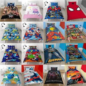 Cartoon Character Single Duvet Set Quilt Cover Pillowcase Kids Childrens Bedding