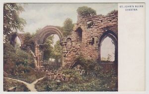 Cheshire-postcard-St-John-039-s-Ruins-Chester-A19