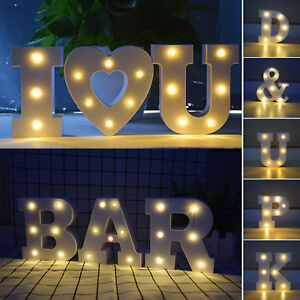 Image is loading A-Z-Alphabet-Letters-Lights-Led-Light-up-Wedding- & A-Z Alphabet Letters Lights Led Light up Wedding Party Home Hanging ...