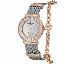 Charriol Women's St Tropez Mother of Pearl Dial Quartz Bangle Watch ST30PC560013