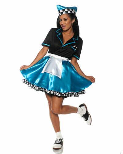 Palmas car hop Girl señora disfraz para 50s mottoparties