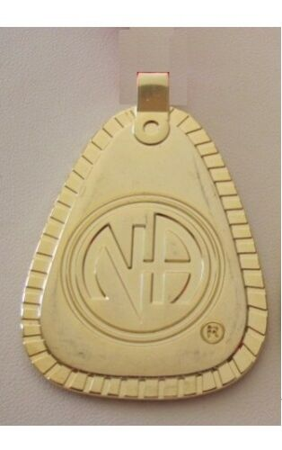 Narcotics Anonymous NA Symbol Money Clip 12 Step Recovery Gold Metal