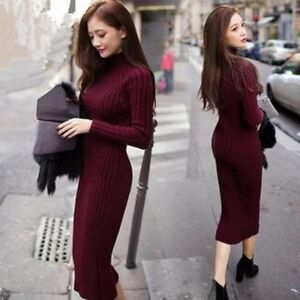 Fashion-Women-Winter-Warm-Long-Sleeve-Knitted-Jumper-Sweater-Dress-Pullover-Tops