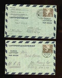 Germany: Berlin: 4 early aerogrammes, Mi. LF2-LF5, cat. EUR 220+