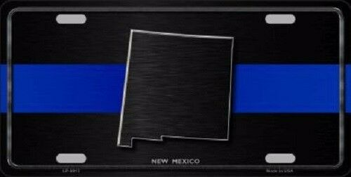 New Mexico Thin Blue Line Novelty Metal License Plate