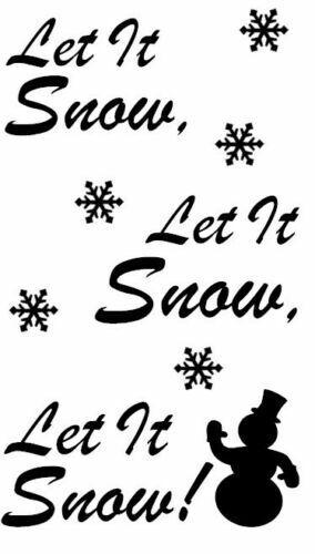 Let It Snow Let It Snow Let It Snow Vinyl Decal Sticker for Wine Bottle Craft