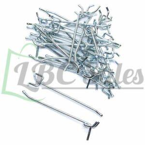 """100pc 6/"""" x 1//4/"""" PEG BOARD HOOKS Metal Hanging Garage Tool Storage"""