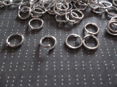 Qty 142 Round 6mm Silver Jump Rings 20 gauge