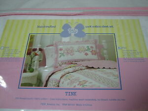 NEW That's Mine Handcrafted Full Sheet Set Tink, Pink Flower NIP
