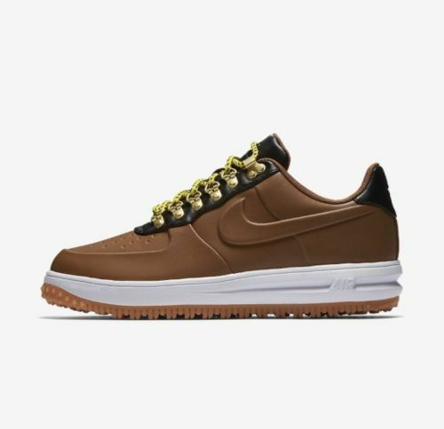 {AA1125-200} MEN'S NIKE LUNAR FORCE 1 LOW DUCKBOOT BROWN/WHITE/BLACK *NEW!*