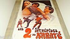 wang yu LES 2 INTREPIDES Shuang long chu hai  affiche cinema karate kung-fu 1973