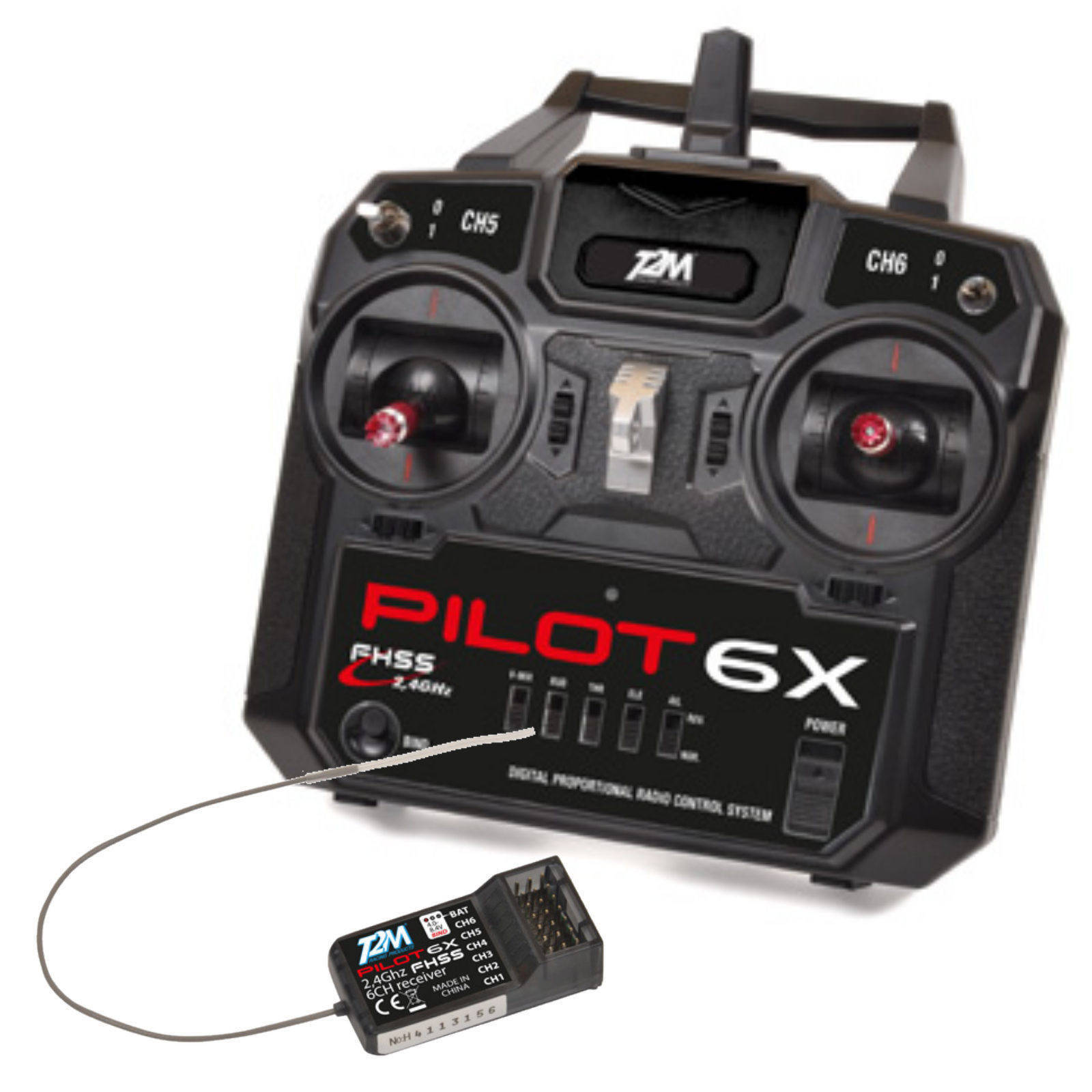 T2m t3424a 6 canali billette telecomando pilota 6x Delta Mix funzione + ricevitore