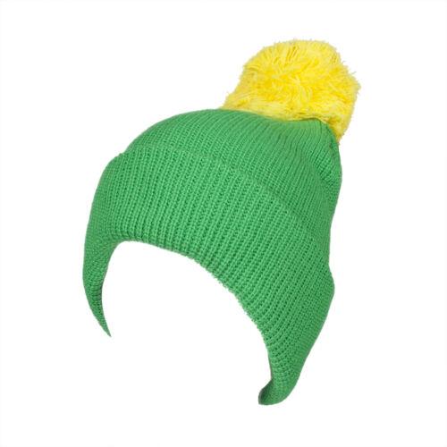 Bonnet avec pompon pompon pompon bonnet tricot-bonnet vert-jaune 41652//1