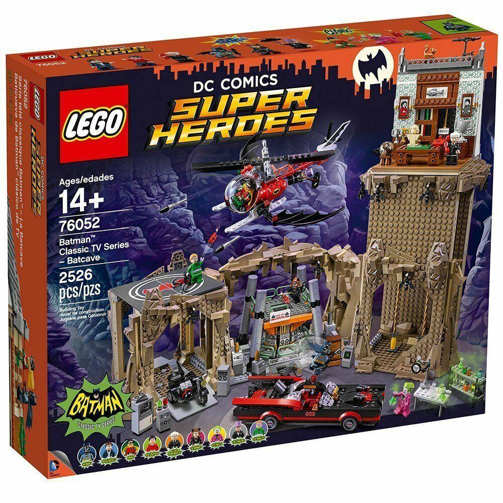 nouveau AND SEALED  Lego Super  Heroes Bathomme Classic TV Series Batcave 76052  au prix le plus bas