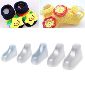 10Pcs-Clear-Plastic-Baby-Feet-Display-Baby-Booties-Shoes-Socks-Showcase