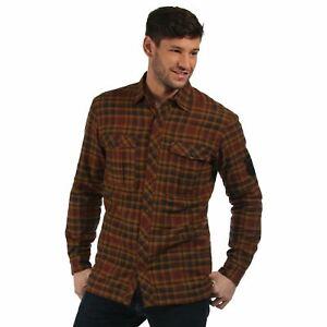 Regatta Mens Tasman Fleece Lined Long Sleeved Check Shirt