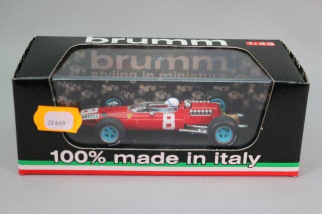 ZE449 BRUMM 1/43 Ferrari 512 F1 GP Italie 1965 #8 J. Surtees Ref R298-CH NB