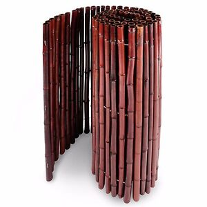 Bambus Rot Bambusmatte Bambuszaun Sichtschutz Windschutz