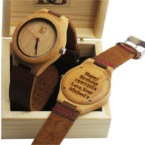 Reloj madera hombre personalizado