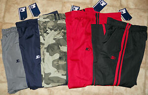 578651877 Boys Starter Athletic Woven Track Pants Mesh Camo Black Red Grey ...