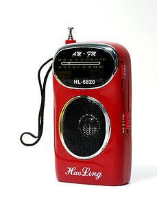 1pc Pocket FM/AM 2 Band RadioHL-6820 FM=76~108Mhz AM=530~1600Khz AA 1.5Vx2