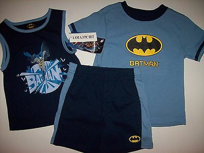 Boy/'s DC Comics Batman Outfit Sz 2T Shirt Basketball Shorts Superhero 2 Pc Set