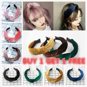 Women-Velvet-Cute-Headband-Alice-Band-Top-Cross-Knot-Headband-Twisted-Hairband