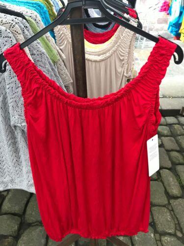 Women/'s Ladies Italian Sleeveless Gypsy Frill Detail Elasticated Summer Vest Top