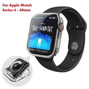 Apple-Watch-Series-4-Case-iWatch-TPU-Gel-Displayschutzfolie-ultra-duenn-40mm-klar