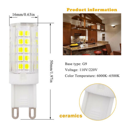 5pcs G9 Base Led Light Bulb 64-2835 SMD LED 5W 220~240V Ceramics Light White H