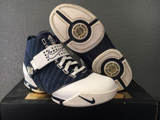 sports shoes e8d6e 96ef8 2007 NIKE Zoom Lebron V 5 Yankees Rare Sz 7.5 317253-411 Gently Used